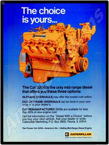 1979 Caterpillar Tractors NEW Metal Sign: Cat 3208 Mid Range Diesel Engine
