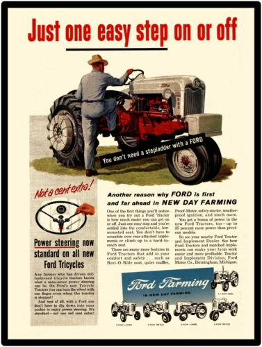 Ford Tractors New Metal Sign: Ford Model 960 Tractor Featured