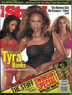 Stuff For Men May  2003 Tyra Banks First Stuff Swimsuit Special