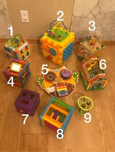 Mutifamily toy clear out - Activity cubes activity centers