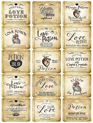 Halloween Elixir Labels (Halloween 15 bottle labels Love Potion Elixir)