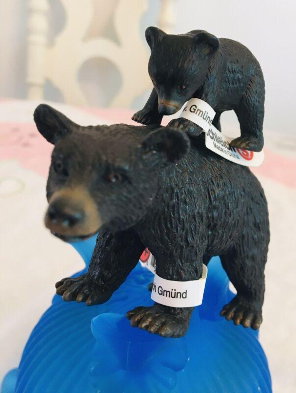 Schleich  BLACK BEARS  #14316 Big Bear   #14326 Baby Bear  New