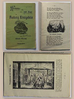 Dietrich Geschichte und Sage der Festung Königstein um 1900 Ortskunde Sachsen xz