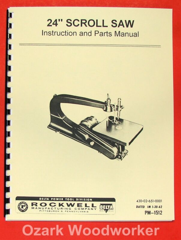 "ROCKWELL-Delta 24"" Scroll/Jig Saw Operator"