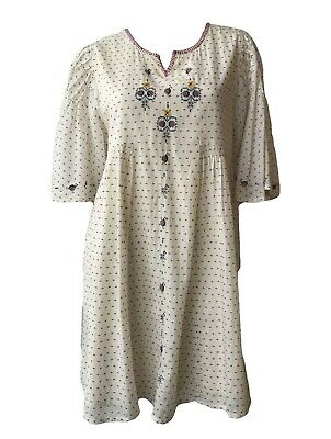 Intropia Polka Dot Ivory Mini Dress Size Medium