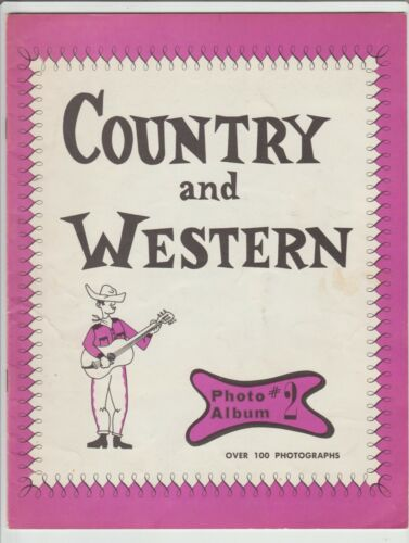 {1963} COUNTRY & WESTERN  PHOTO ALBUM  #2/ GRAND OLE OPRY MUSIC STARS {Vintage}