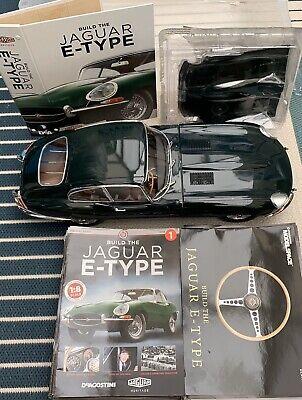 Build The Jaguar E-Type 1/8th Deagostini  ** FULLY BUILT  ***