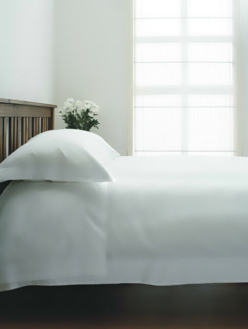 400 Thread Count Single Ply Egyptian Cotton 4ft Double Small Fitted Sheet White
