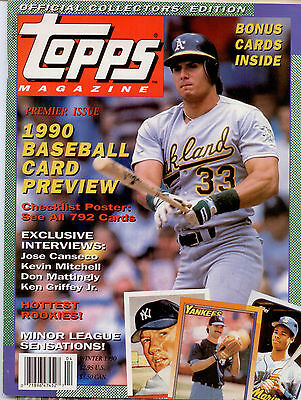 Jose Canseco A's Topps Winter Baseball Card  Review