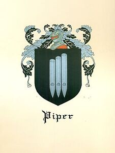 Great-Coat-of-Arms-Piper-Family-Crest-genealogy-would-look-great-framed
