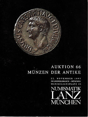 LANZ AUKTION  66 Katalog 1993 Antike Münzen Kelten Griechen Römer Byzanz Rom ?66