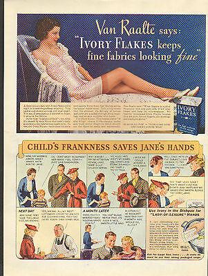 1930's Ivory Flakes soap ad Van Raalte Testimonial /21