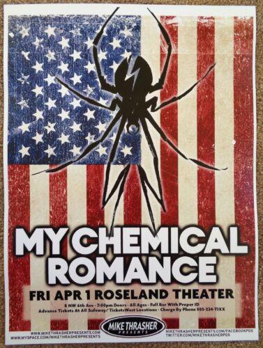 MY CHEMICAL ROMANCE 2011 Gig POSTER Portland Oregon Concert