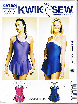 (Leotards Skirt Gymnastics Ballet Dance Ice Skating Sewing Pattern XS S M L XL)