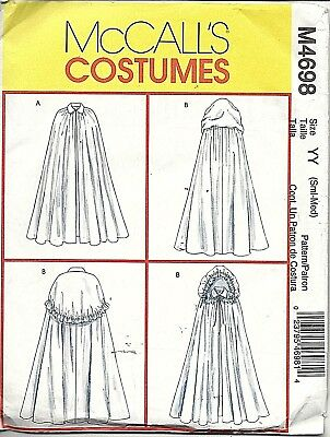 MISSES' CAPES - HISTORICAL/FANTASY/SCI FI  - uncut McCall's Pattern # M4698