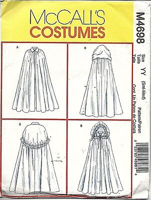 MISSES' CAPES - HISTORICAL/FANTASY/SCI FI  - uncut McCall's Pattern # M4698 - Sci Fi Female Costumes