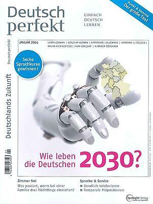 Deutsch perfekt, Jahrgang 2016: alle 12 Hefte +++ wie neu +++