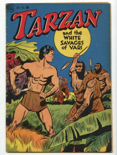Tarzan #1 DELL Golden Age 1948 White Savages of Vari Jungle Comic