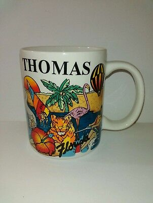 Personalized Coffee Mug for Thomas from Florida Travel Souvenir