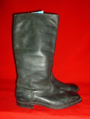 Russian Soviet Army Officer Leather Chrome Boots Size 42 US 9 Wooden Nails USSR