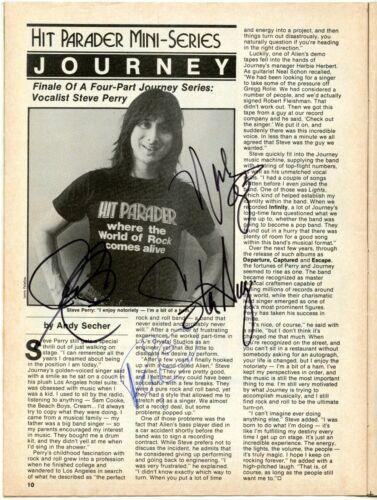 Journey Hit Parader autographed! Randy Rhoads Van Halen, Def Leppard