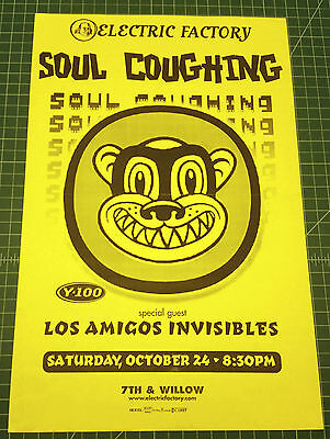 Soul Coughing Los Amigos Invisibles Original 1998 Concert Poster