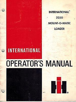 International 2250 Mount-o-matic Loader Operators Manual