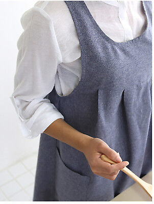 Natural Fabric Simple & Modern Light Weight Apron with Pocket Daily Apron
