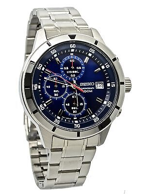 Seiko Chronograph SKS559 Blue Dial Stainless Steel Men's Watch