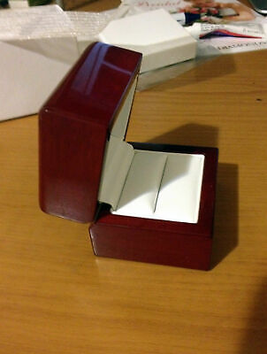 SINGLE RING Cherry Wood Jewelry Band Box Engagement Best Quality Best Price