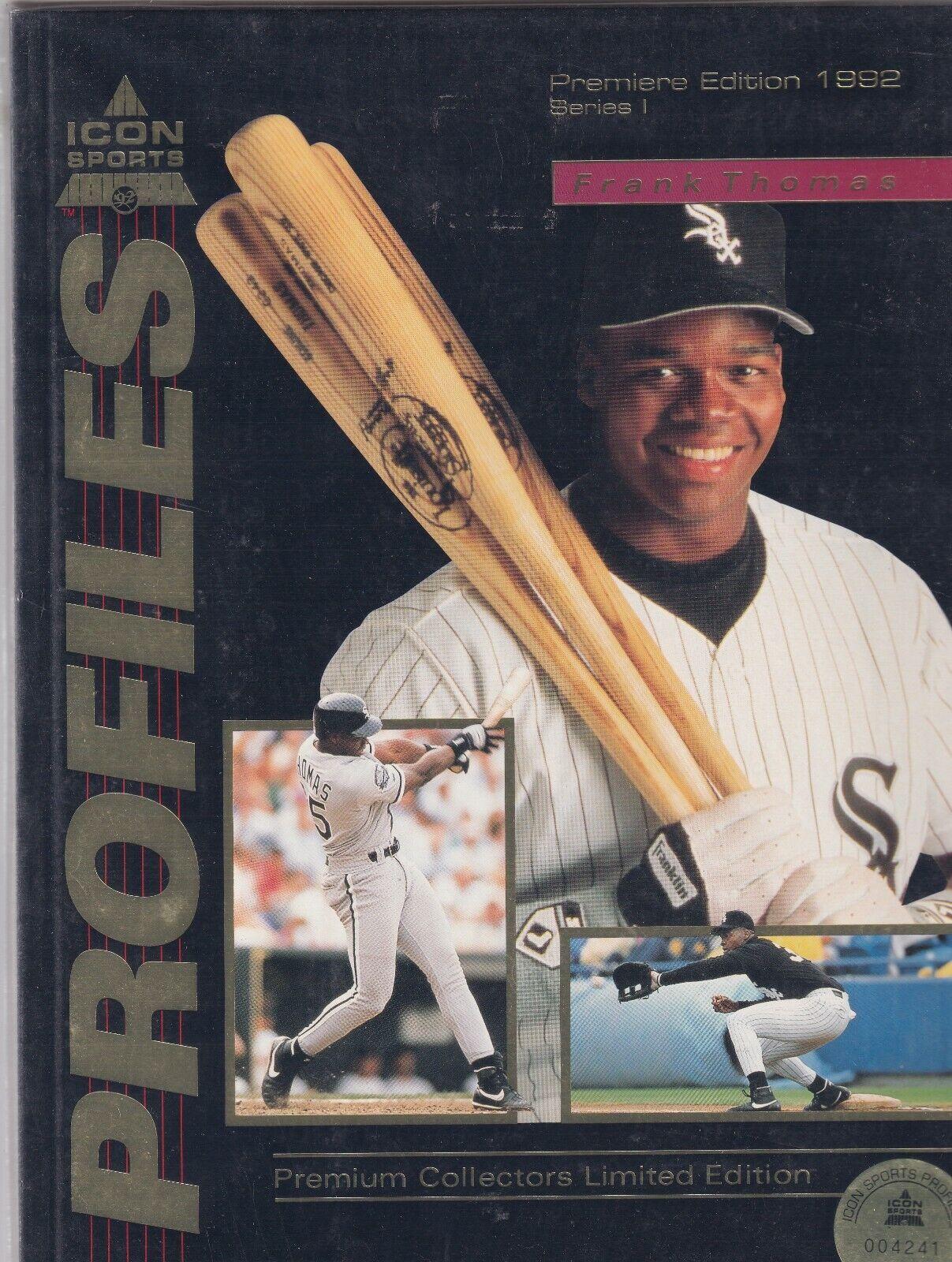Profiles Icon Sports Mag Frank Thomas Limited Edition 1992 070419nonr - $14.99