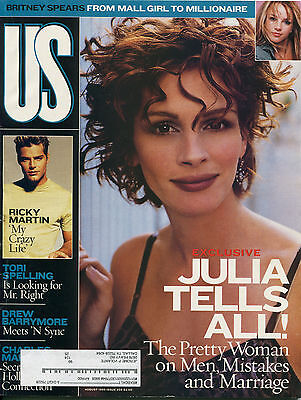 Julia Roberts Us Magazine August 1999 8 99 Ricky Martin Britney Spears A 4 2