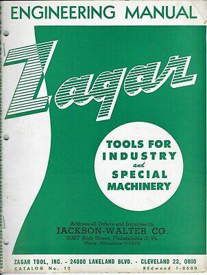 Machine Tool Brochure - Zagar Broaching Jig Tile Drill Heads Et Al C1950 Tl166