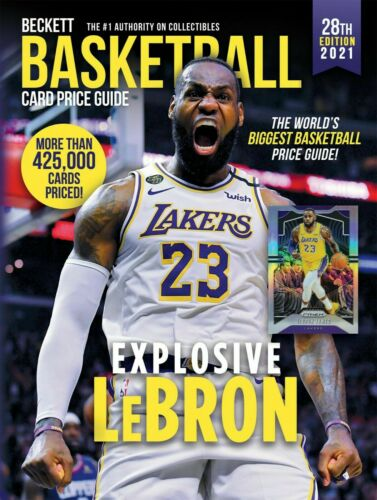 2021 Beckett Basketball Card Annual Value Price Guide 28th Edition Lebron James