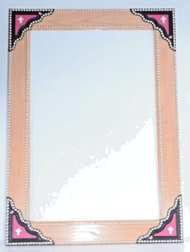 Dry Erase Board Whiteboard Fancy Leather Studs Pink Butterfly Bling Handmade OOK