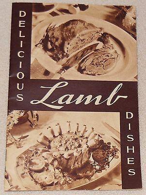 1935 Lamb National Live Stock Dish Meat Loaf Chops Menu Recipe Cook Book Booklet