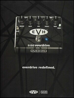MXR EVH 5150 Overdrive guitar effects pedal ad 2016 advertisement print