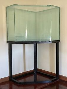 280L aquarium and stand - very unique shape! Willetton Canning Area Preview