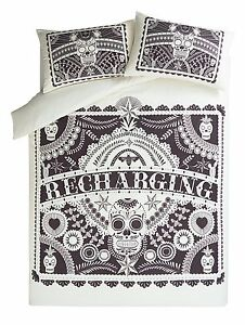 George Day of the Dead Sugar Skull Tattoo DOUBLE Duvet Cover + 2 Pillowcases