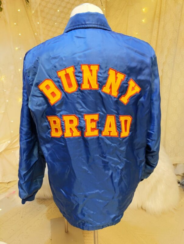 Vintage Bunny Bread delivery jacket rare embroidered Leroy sz large advertising