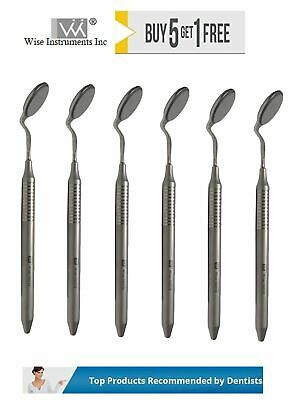 Dental Mouth Mirror Double Sided 5 Pack Of 6 With Handles By Wise Instrument