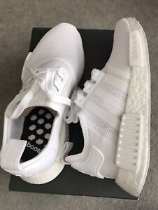 Adidas Triple white nmds boost size 7