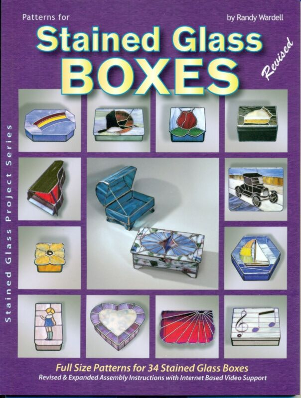 Pattern Book for Stained Glass Boxes, More then Shown, Car, Flowers, Abstract