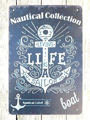 Metal Bedroom Collection (US SELLER- bedroom wall decor Nautical Collection Boat anchor tin metal)