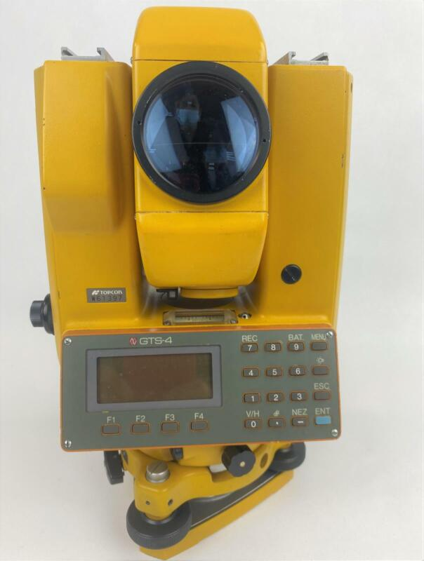 Topcon GTS-4 Total Station W/ Case TESTED & WORKING