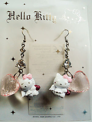 "Hello Kitty Ohrstecker Ohrring ""HEART ANGEL KITTY""  Original Sanrio NEU! mit OVP"