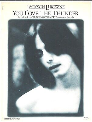 JACKSON BROWNE Sheet Music JAMAICA SAY YOU WILL Criterion 70/'s POP Soft ROCK