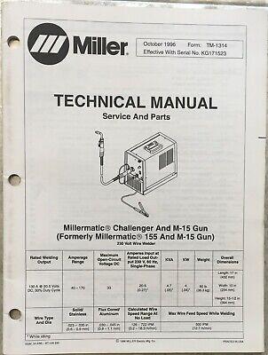 Miller Challenger Millermatic 155 M-15 Gun Technical Manual