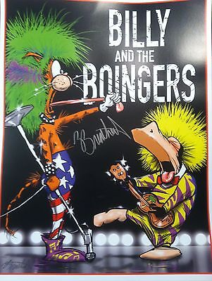 Billy and the Boingers POSTER SIGNED by BERKELEY BREATHED - BLOOM COUNTY OPUS