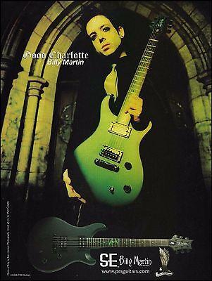 Good Charlotte Billy Martin Signature PRS SE guitar ad 8 x 11 advertisement